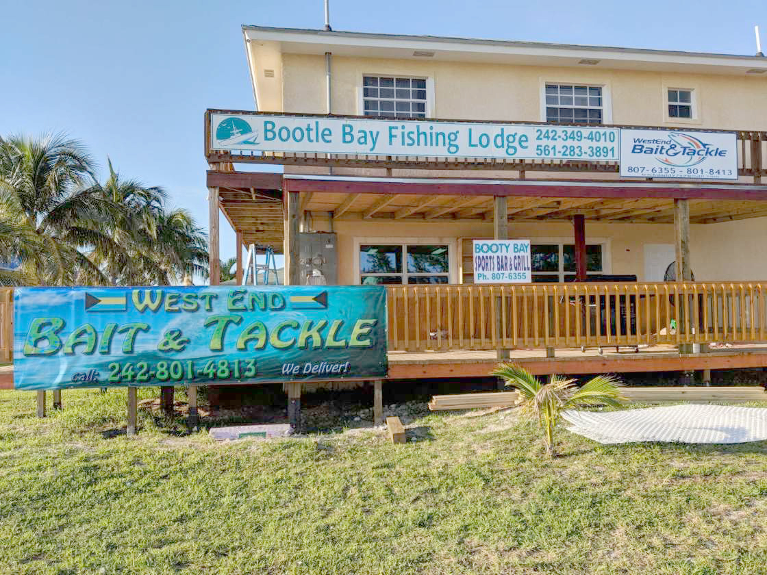 West End Bait and Tackle located in Bootle Bay Fishing Lodge, adjacent to Blue Marlin Cove.
